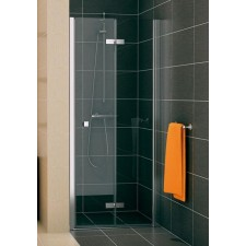 Sanswiss Ronal Swing-Line F drzwi składane dwuczęściowe do ścianki lub wnęki prawe 90 profil połysk, szkło przezroczyste - 406484_O1