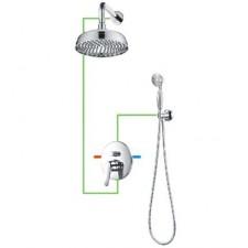 Omnires Art Deco system prysznicowy podtynkowy chrom - 768279_O1