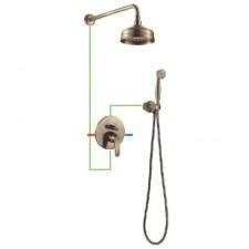 Omnires Art Deco system prysznicowy podtynkowy brąz antyczny - 768388_O1
