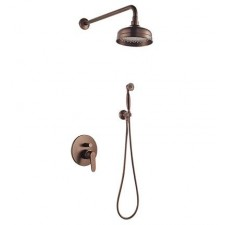 Omnires Art Deco system prysznicowy podtynkowy miedź antyczna - 768300_O1