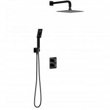 Omnires Parma system prysznicowy podtynkowy termostatyczny z deszczownicą, czarny mat - 794327_O1