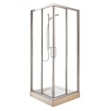 Ideal Standard Tipica kabina prysznicowa kwadratowa 80cm szkło matowe biały - 384567_O1