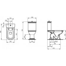 Ideal Standard Calla miska WC kompaktowa biały - 418130_O1
