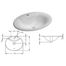 Ideal Standard Oceane umywalka wpuszczana w blat 54cm biała - 367803_O1