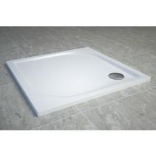 Sanswiss Tracy brodzik kwadratowy konglomeratowy 90x90, biały - 509415_O1
