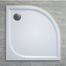 Sanswiss Ronal Tracy brodzik konglomeratowy półokrągły 80x80 cm biały - 512965_O1