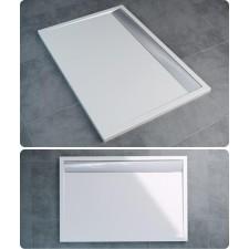 Sanswiss Ronal Ila brodzik konglomerat prostokątny 80x100 biały - 491334_O1