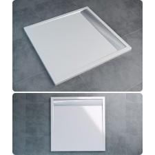 Sanswiss Ronal Ila brodzik konglomerat kwadratowy 90x90 biały - 490837_O1