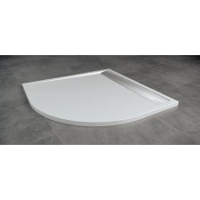 Sanswiss Ronal Ila brodzik konglomerat 1/4 koła 80x80 R55 biały - 491412_A1