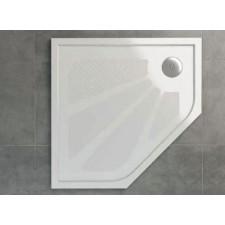 Sanswiss Ronal Marblemate brodzik konglomerat pięciokątny 90x90 biały - 488813_O1