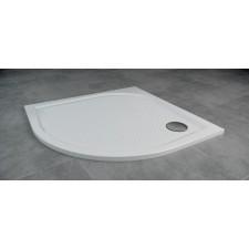 Sanswiss Ronal Marblemate brodzik konglomerat 1/4 koła 80x80 R55, biały - 488961_A1
