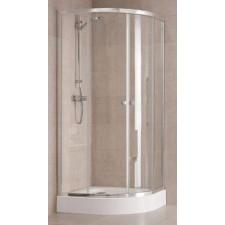Koło First kabina półokrągła 1/4 koła 80cm szkło transparentne profil połysk - 450978_O1