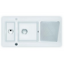 Deante Modern zlewozmywak 1,5-komorowy z ociekaczem - alabaster 1000x520 - 451499_O1