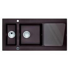 Deante Modern zlewozmywak 1,5-komorowy z ociekaczem - grafitowy metalik 1000x520 - 451505_O1